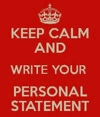What do you write about in a personal statement for